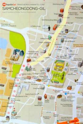 samcheongdonggil map highlighted small